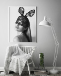 Poster Girl With Bunny Ears