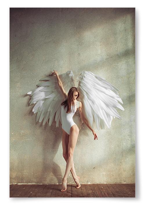 Poster Kvinna Ängel