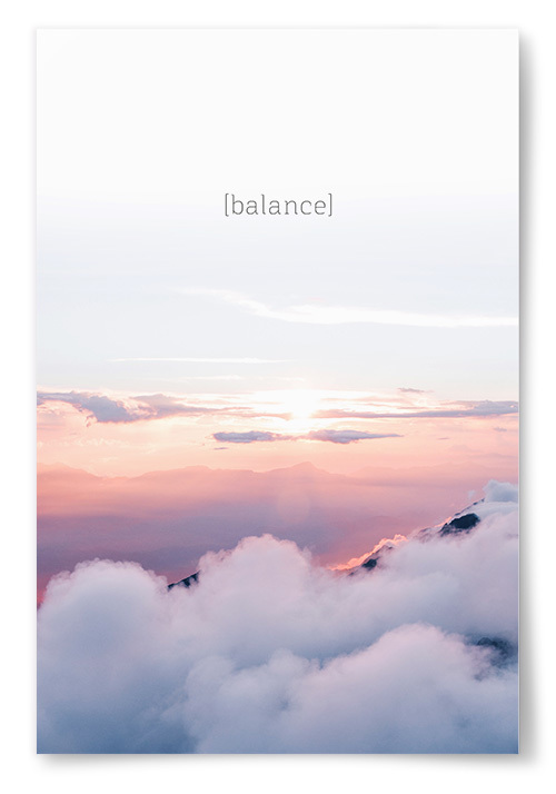 "Poster ""Balance"""