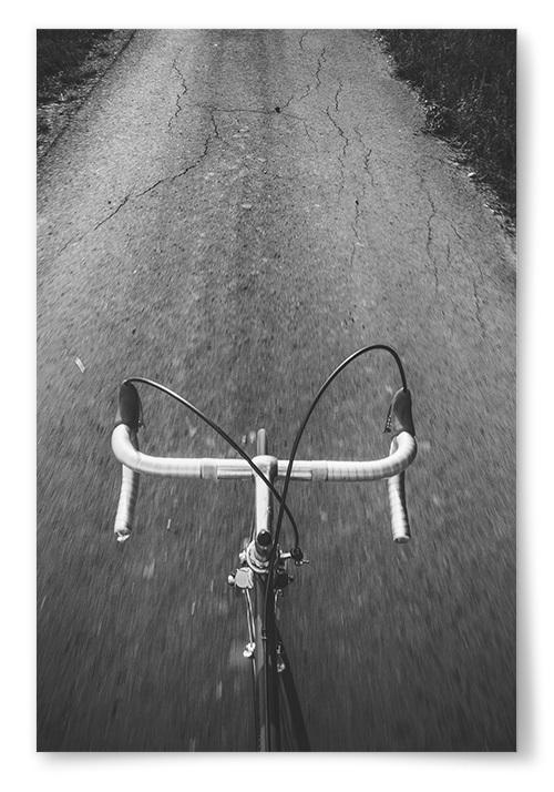 Poster Cykelstyre Svartvit