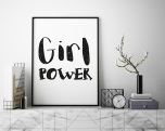 "Poster ""Girl Power"""