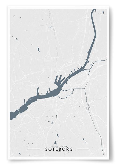 Poster Göteborg Karta