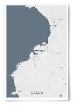 Poster Malmö Karta