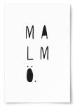 Poster Malmö Text