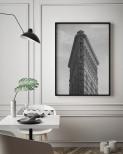 Poster Flatiron Building Vertikal Svartvit