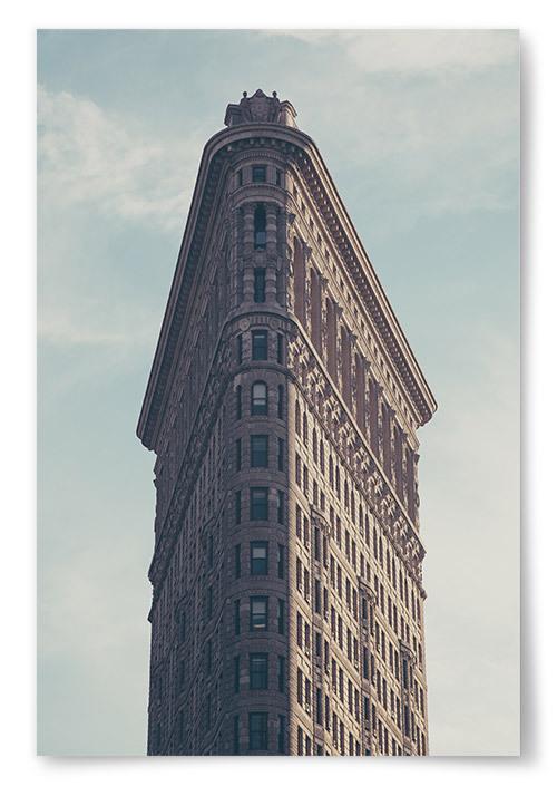 Poster Flatiron Building Vertikal