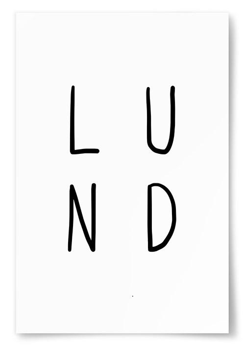 Poster Lund Text