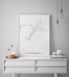 Poster Karlskrona Karta Svartvit
