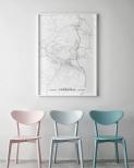 Poster Sundsvall Karta Svartvit
