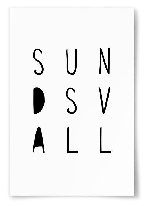 Poster Sundsvall Text