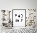 Poster Vaxholm Text
