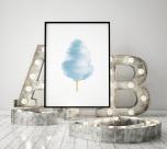 Poster Sockervadd Blå