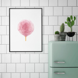 Poster Sockervadd Rosa