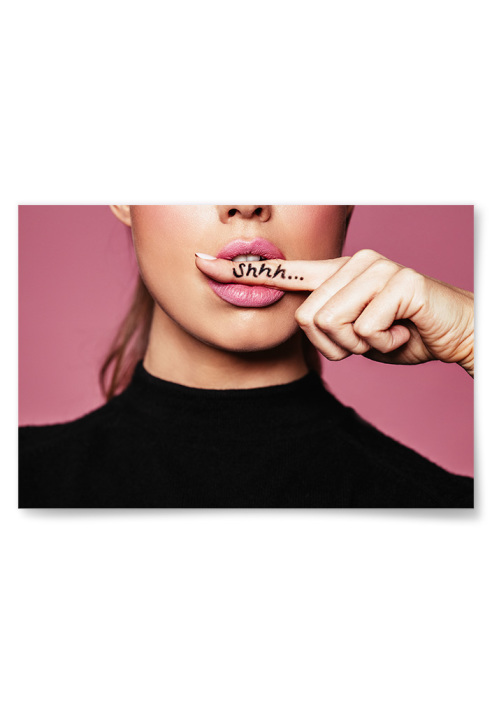 Poster Rosa Shhh