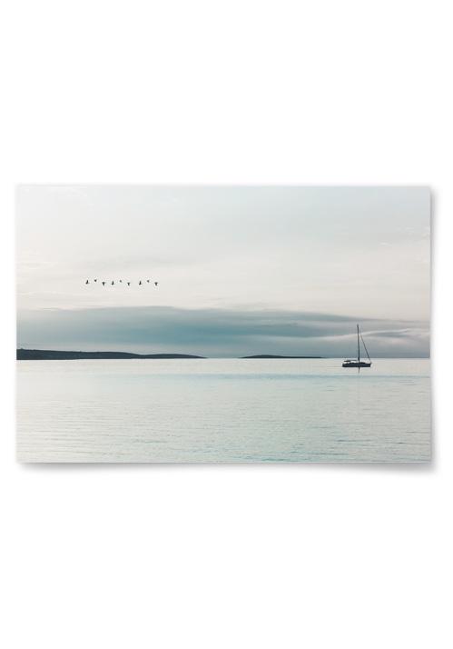 Poster Segelbåt På Kusten