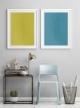 Poster Blå Färg