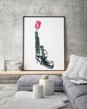 Poster Blomma i Pistol