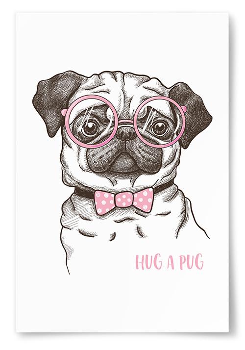 Poster Hug A Pug