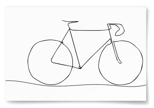 Poster Cykel Skiss