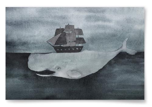 Poster Skepp på Val