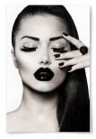 Poster Kvinna med Svart Läppstift