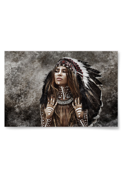 Poster Kvinna Indian Horisontell