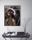 Poster Kvinna Indian