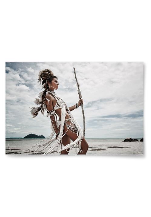Poster Kvinna Native Horisontell