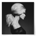 Poster Kvinna Profil