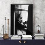 Poster Kvinna i Fönster