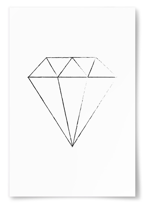 Poster Diamant Skiss