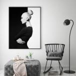 Poster Svartvit Kvinna