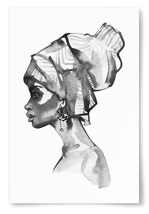 Poster Afrikansk Kvinna Målning