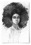 Poster Afrikansk Kvinna Akvarell No.2