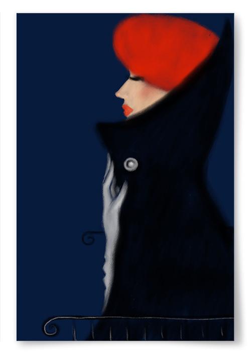 Poster Röd Basker No.2