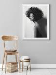 Poster Kvinna med Lockar