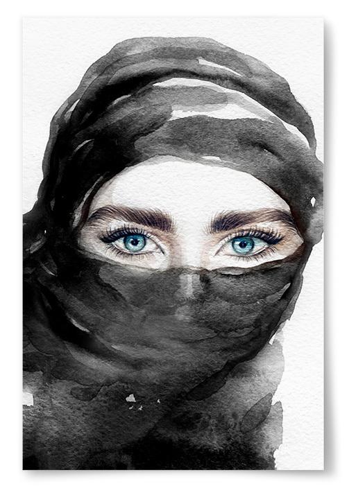 Poster Slöja Akvarell