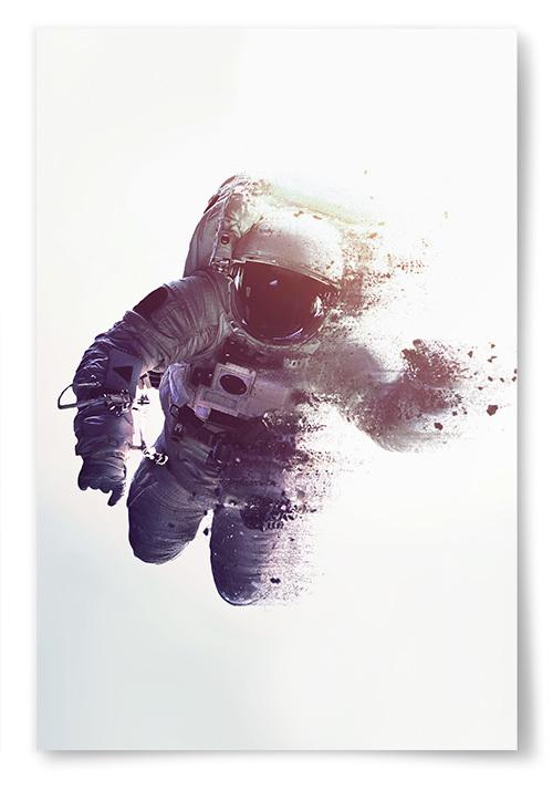 Poster Astronaut Faller Isär