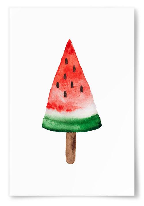 Poster Glass Vattenmelon