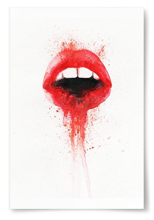 Poster Röd Mun