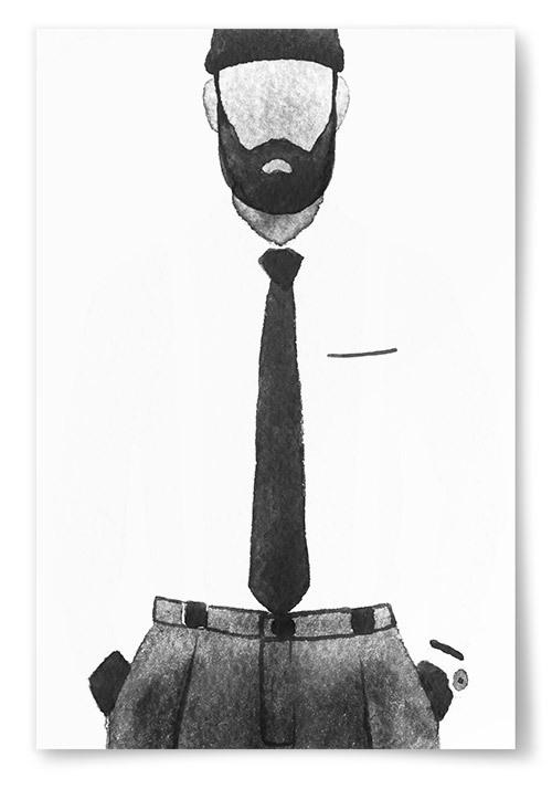 Poster Man med Skägg