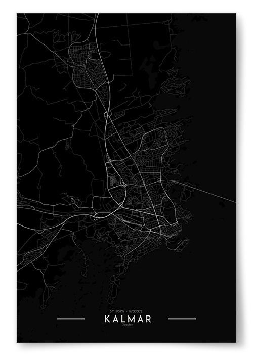 Poster Kalmar Karta Inverterad