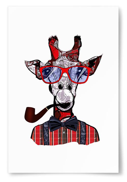 Poster Giraff Konst