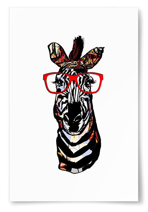 Poster Zebra Konst