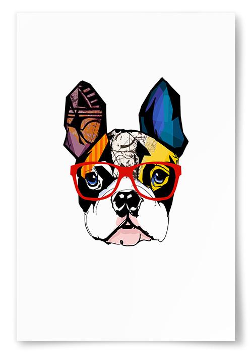 Poster Hund Konst