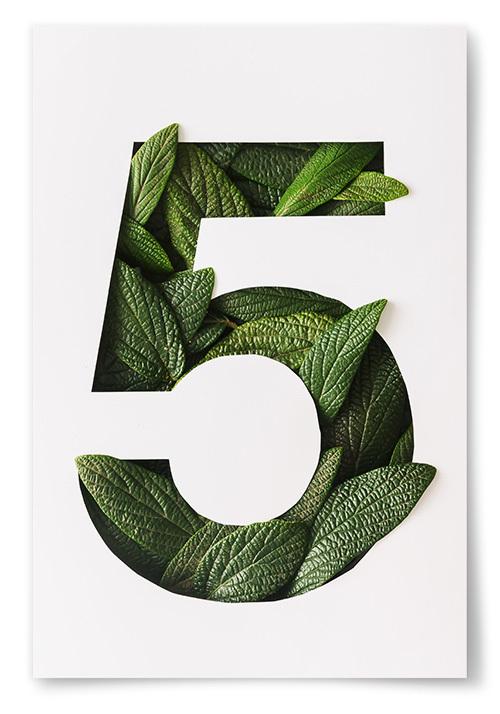 Poster No5 av Blad