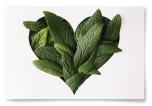 Poster Hjärta av Blad