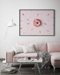 Poster Rosa Blomma