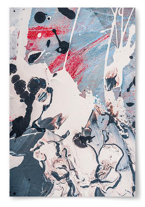 Poster Färg Konst No2