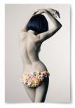 Poster Kvinna med Blommor